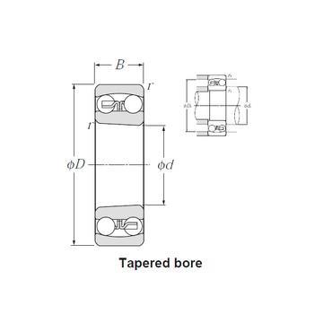 1308-K-TVH-C3 Rodamientos autoalineables de bolas