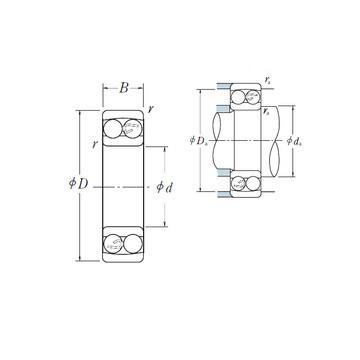 1210-K-TVH-C3 Rodamientos autoalineables de bolas